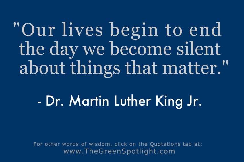 Mlk Jr Quotation Graphic 1 The Green Spotlight