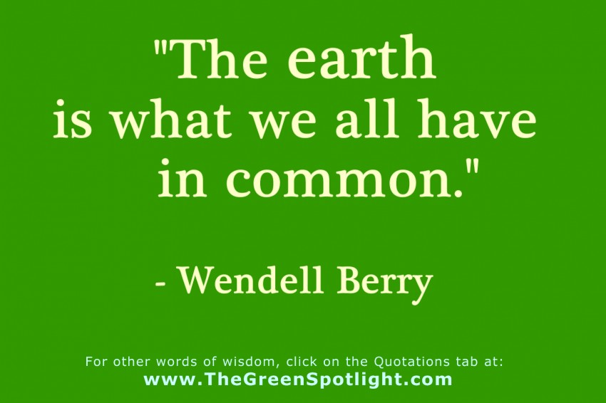 Wendell Berry Quotation Graphic 1 The Green Spotlight